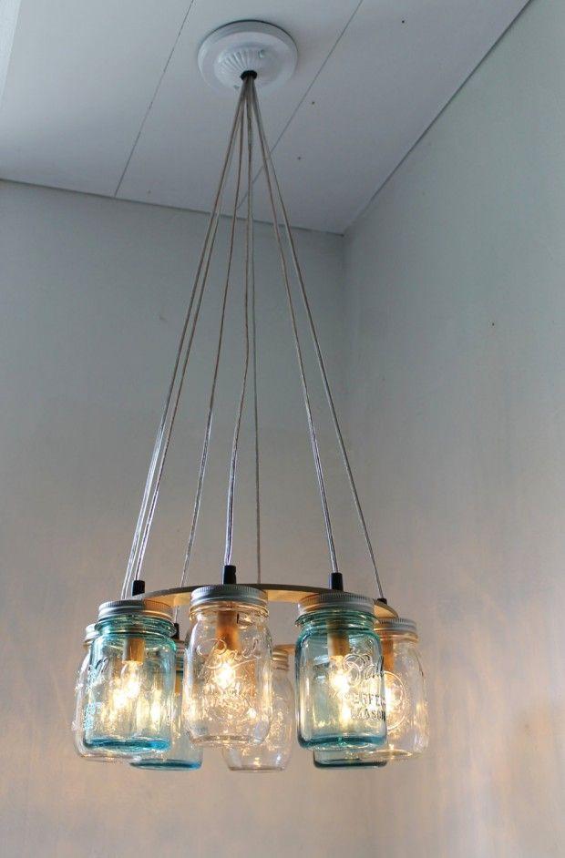 Upcycle This 16 Ways To Reuse Mason Jars Redesign Revolution Mason Jar Chandelier Jar Chandelier Mason Jar Lighting