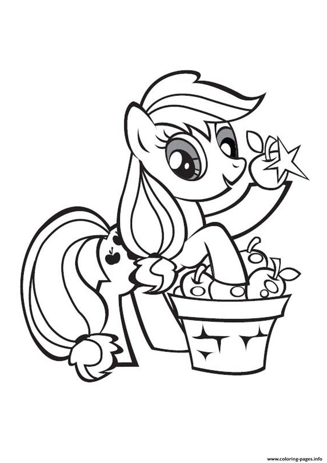 Print My Little Pony Applejack Stand Coloring Pages My Little