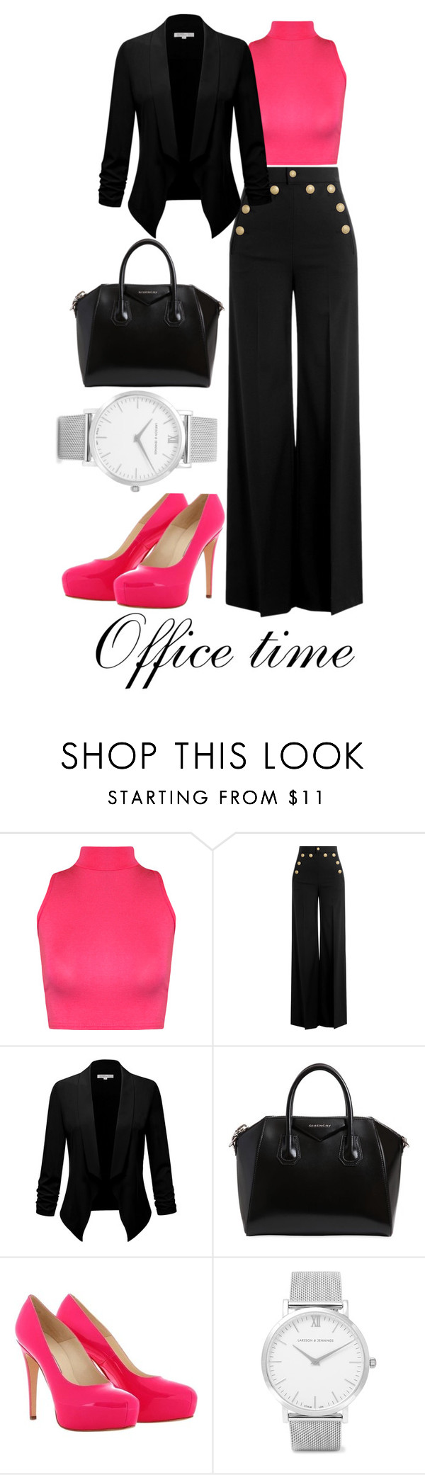 """""""Office time"""" by kacenka-1 ❤ liked on Polyvore featuring WearAll, RED Valentino, Givenchy, Brian Atwood and Larsson & Jennings"""