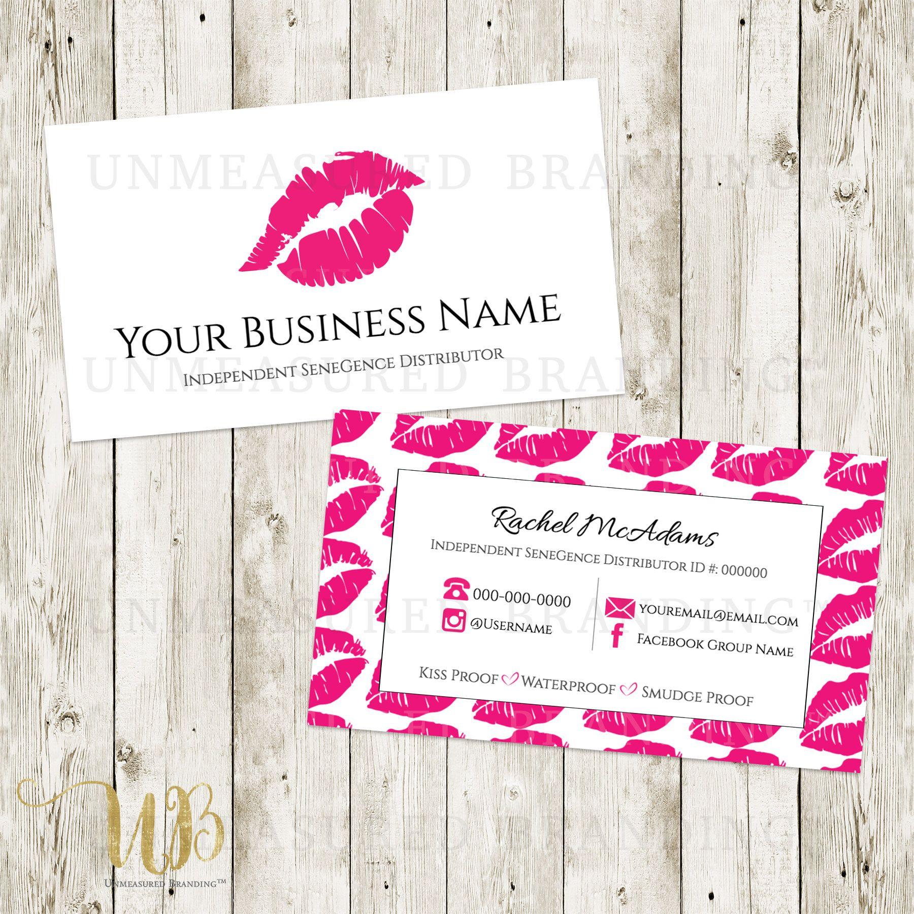 lipsense business cards senegence business cards makeup business