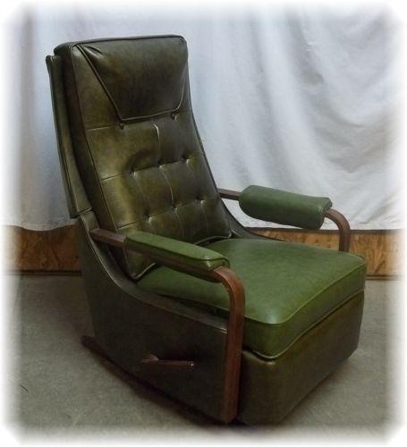 Vintage Mid Century Danish Modern La Z Boy Rocker Recliner Rocking Chair 50s 60s Ebay Modern Rocker Recliner Rocker Recliners Chair