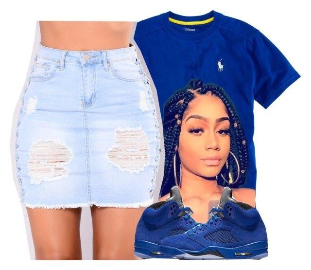 Shawty Rocking All Blue Like A Crip P O L Y V O R E Outfits