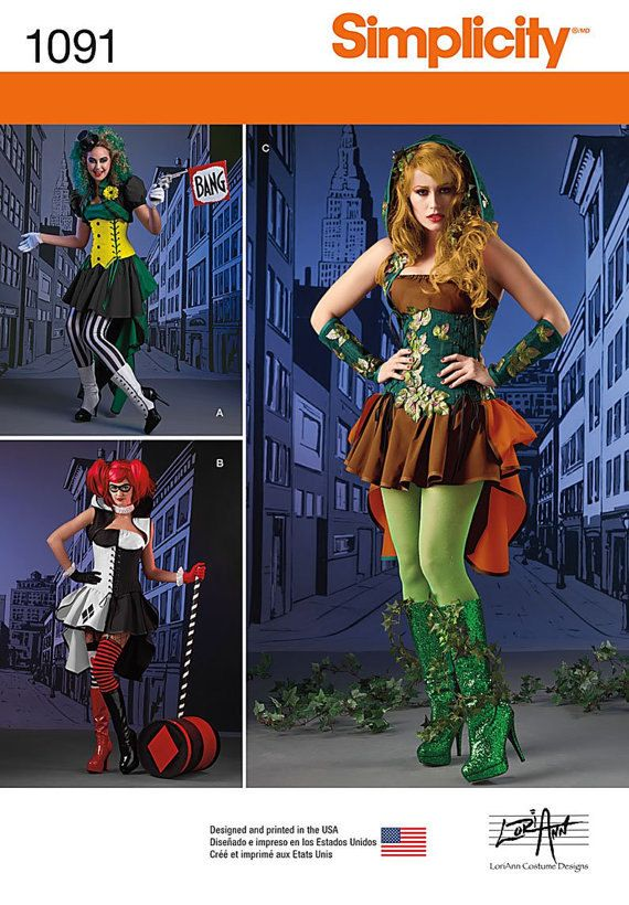 Simplicity S0678 or 1091 Costume Cosplay, Villainess, Corsets ...
