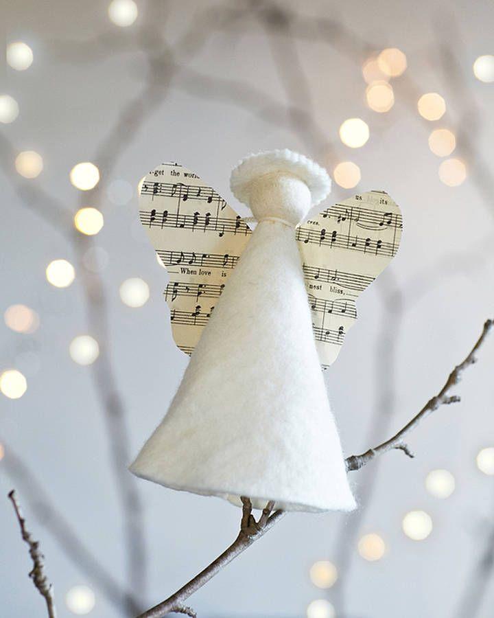 handmade angel christmas tree topper by the original pop up shop notonthehighstreetcom - Handmade Angels Christmas Decorations