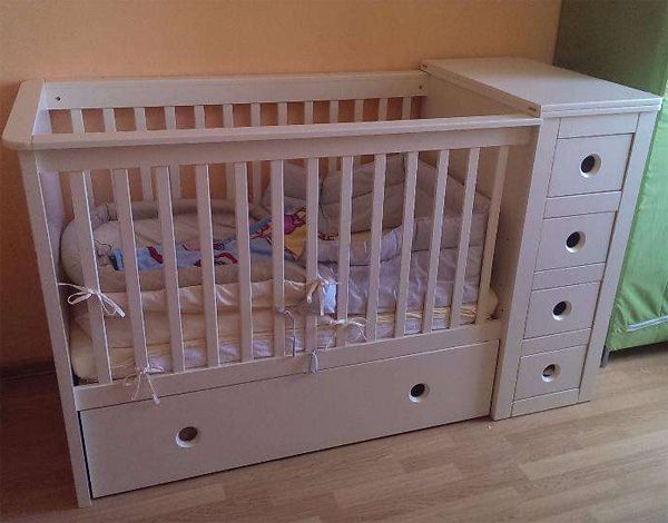 3 in 1 cot bed changing table chest of drawers pinterest cot