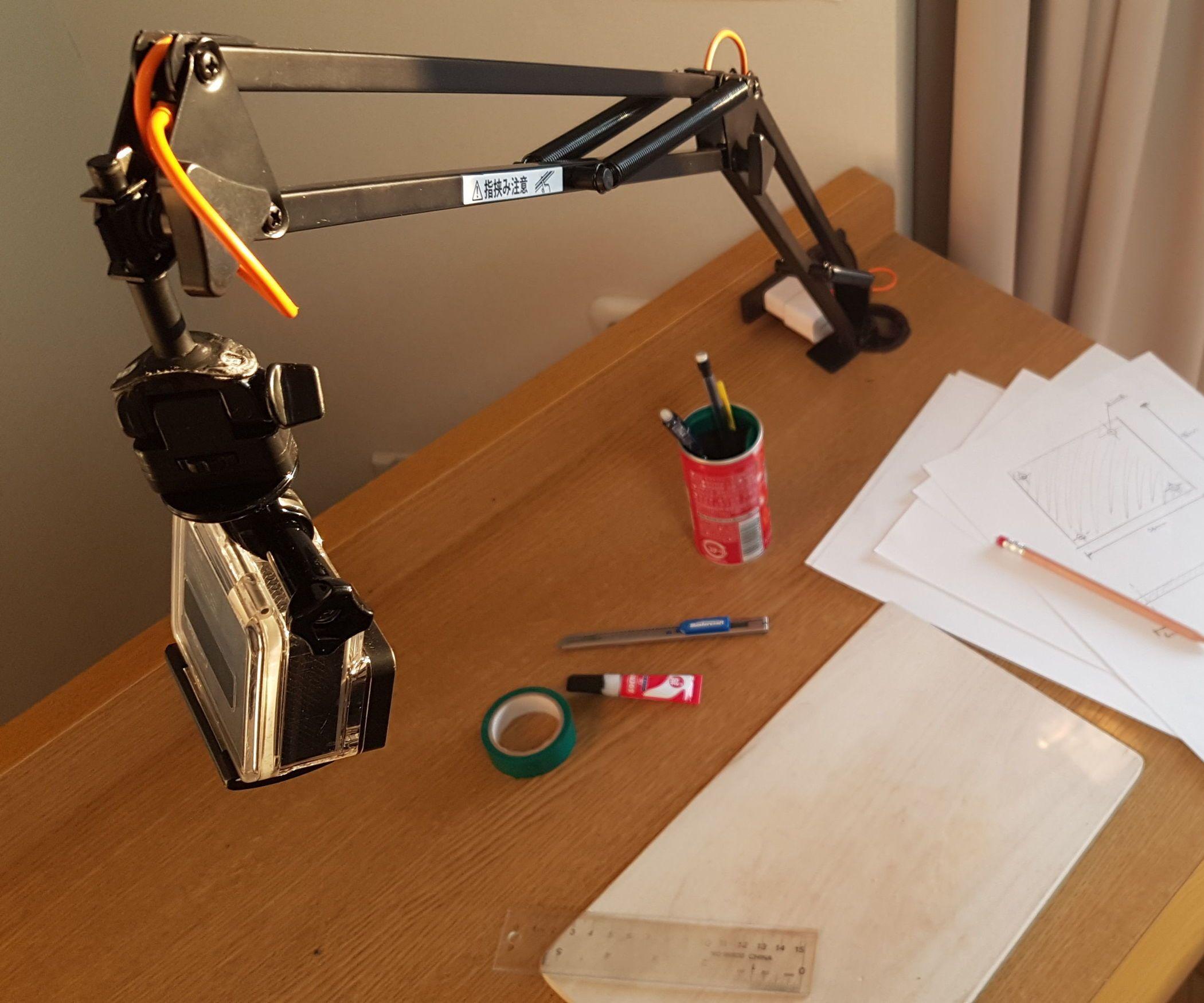 Diy Articulating Arm Mount For Phone Or Camera Diy Diy Cnc Diy Phone