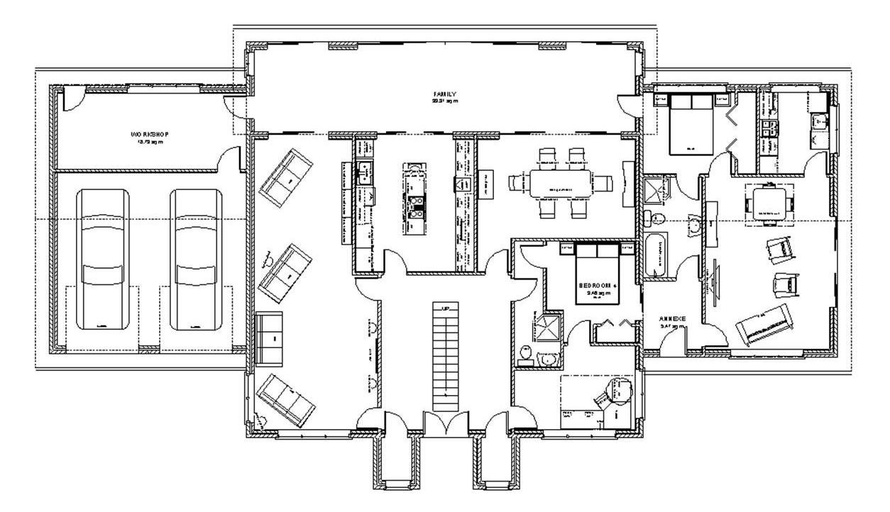 Superb Tropical Home Design Ground Floor Plan