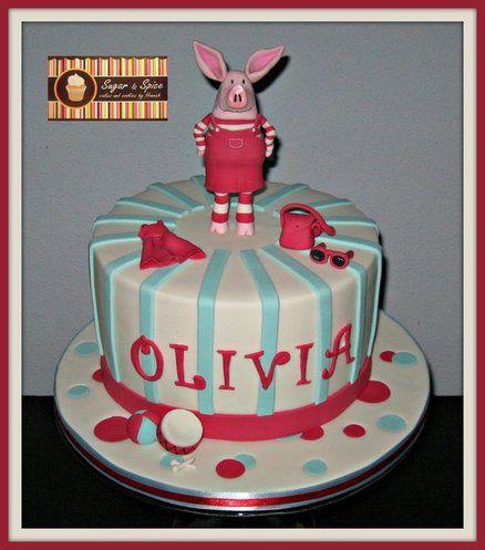 Olivia Pig Cake Cake by Sugar & Spice   Pig cake, Cake ...