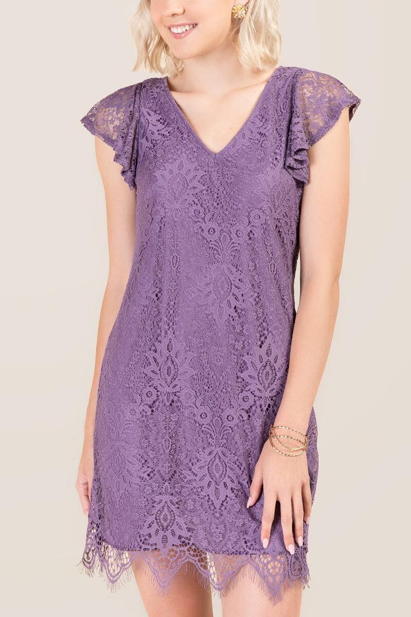 5e864db2a21f Rylee Fluttler Sleeve Shift Dress | francesca's | Wear | Dresses ...