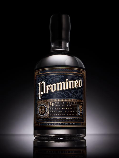 Promineo Whiskey Verpakking Drank Fotografie