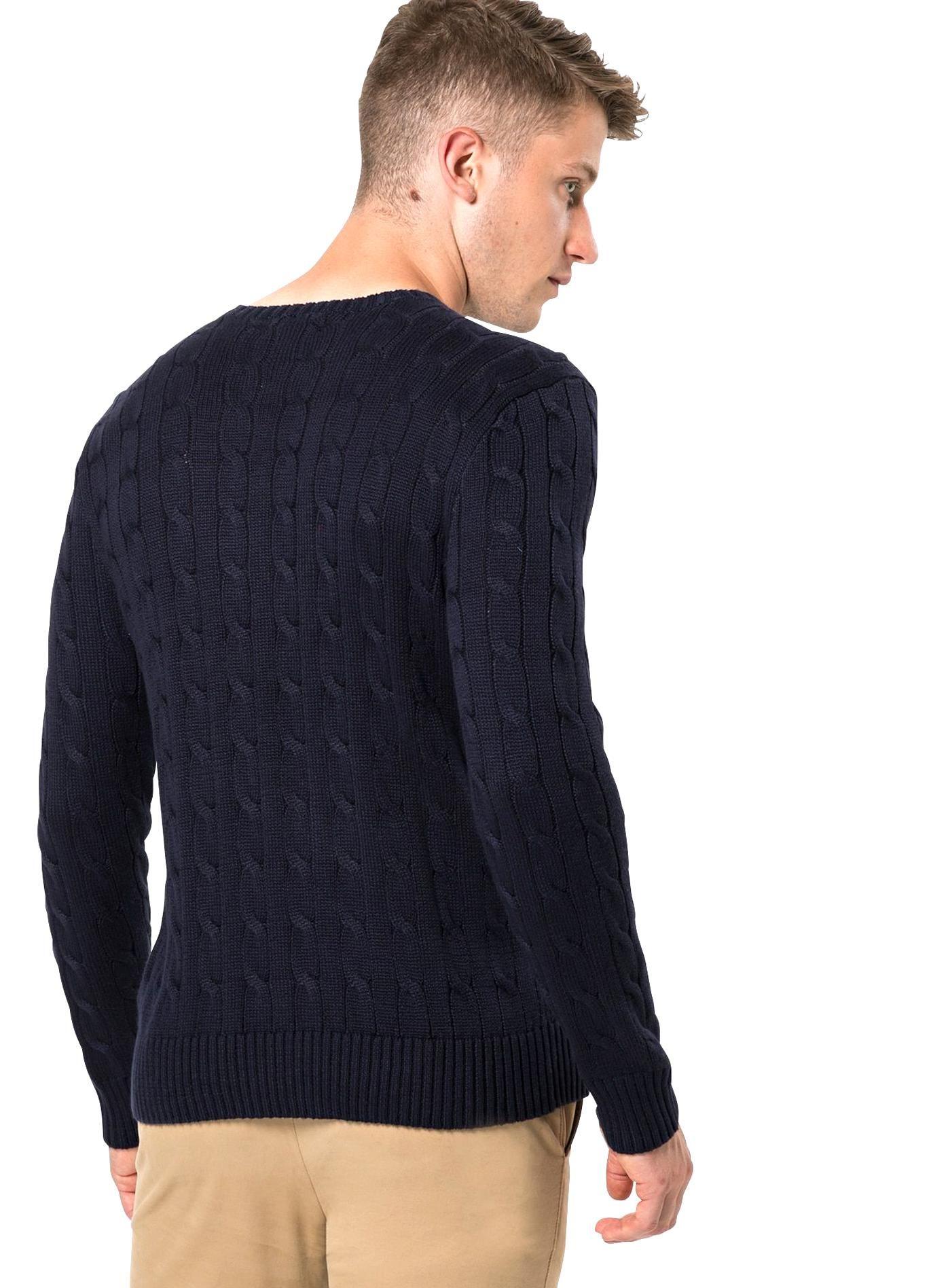 Polo Ralph Lauren Pullover Ls Cbl Cn Pp Long Sleeve Sweater Herren Dunkelblau Gre S Ralph Lauren Pullover Long Sleeve Sweater Pullover