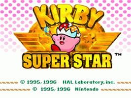 Title Screen Of Kirby Super Star On The Nintendo Snes Kirby Super Nintendo Adventure Time Characters