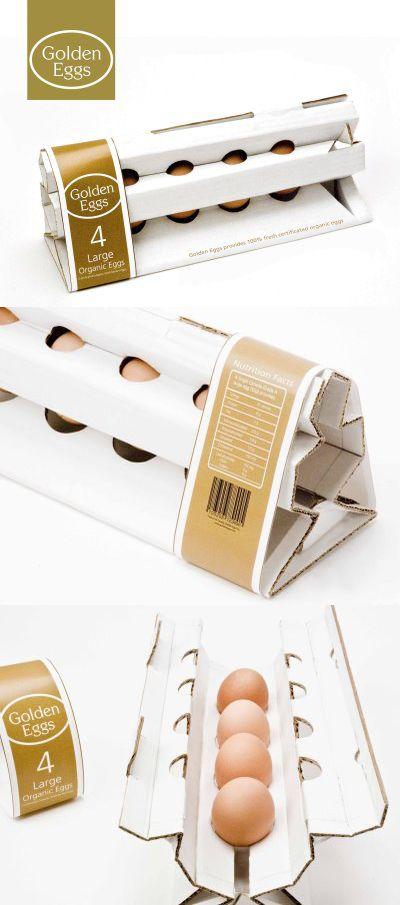 Golden Eggs> bela idea de embalagem para um produto bem sacal.