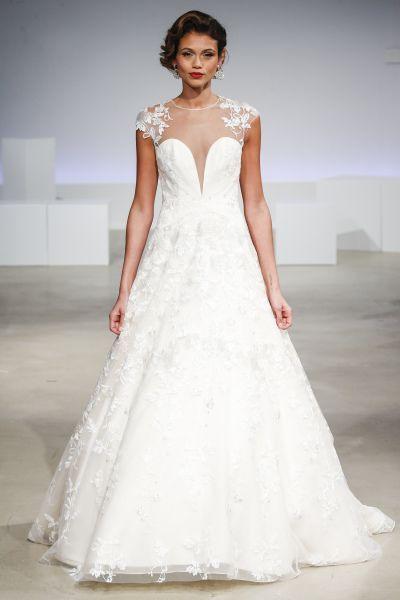 Wedding Dresses: Illustration Description Illusion neckline ...