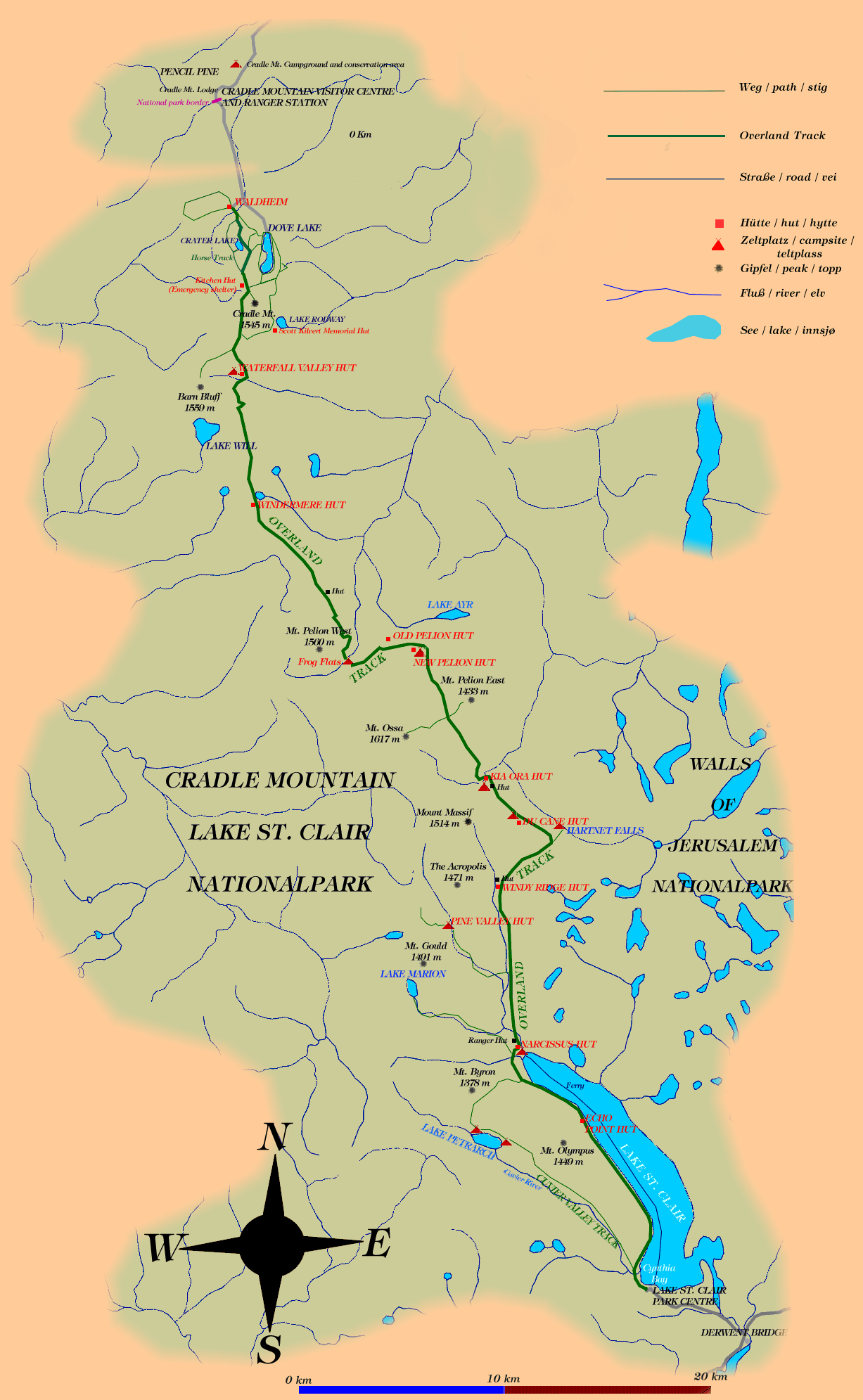 Overland Track Map overland track map   Google Search | Travel   Australia in 2019