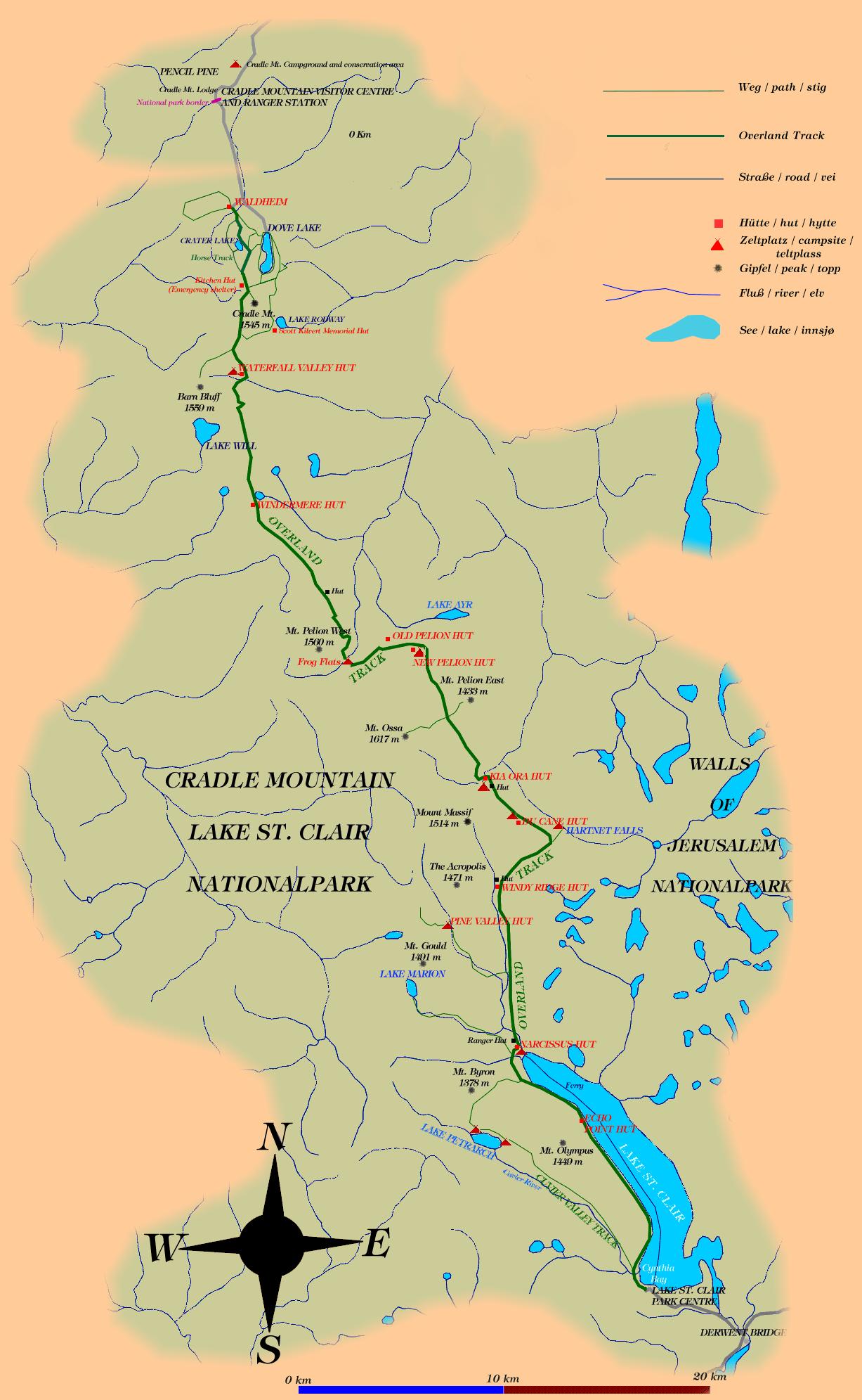 Map Of Australia And Tasmania.Overland Track Map Google Search Travel Australia In 2019