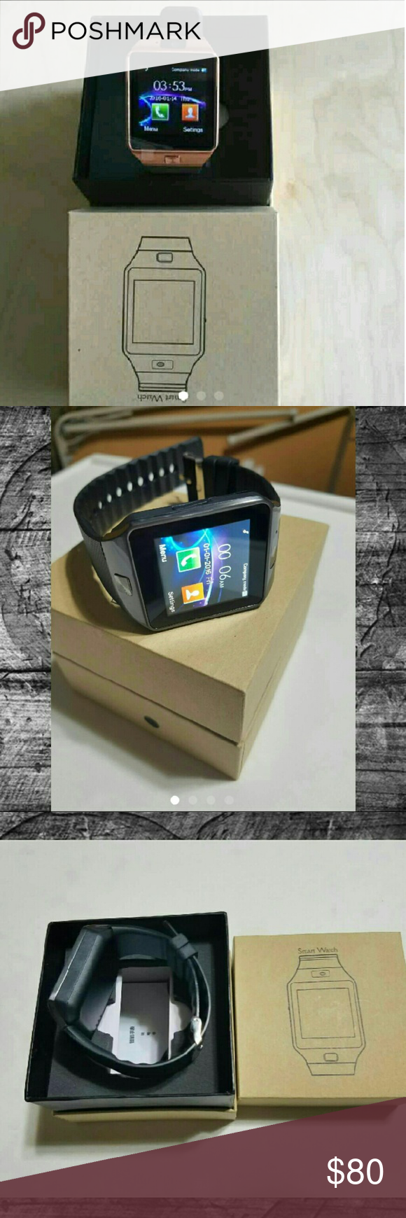 SMART WATCH TABLET/IPHONE ANDROID🎉🎉💜 Brand new. Connects