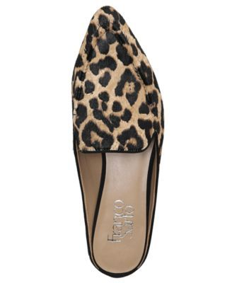 30a60260420b Franco Sarto Sela 2 Pointed-Toe Slip-On Loafer Mules - Leopard 7.5M ...