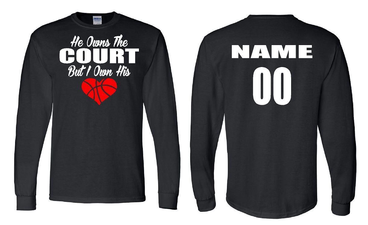 Basketball Girlfriend Shirt Long Sleeve Hoody Girlfriend Shirts Basketball Clothes Basketball Girlfriend