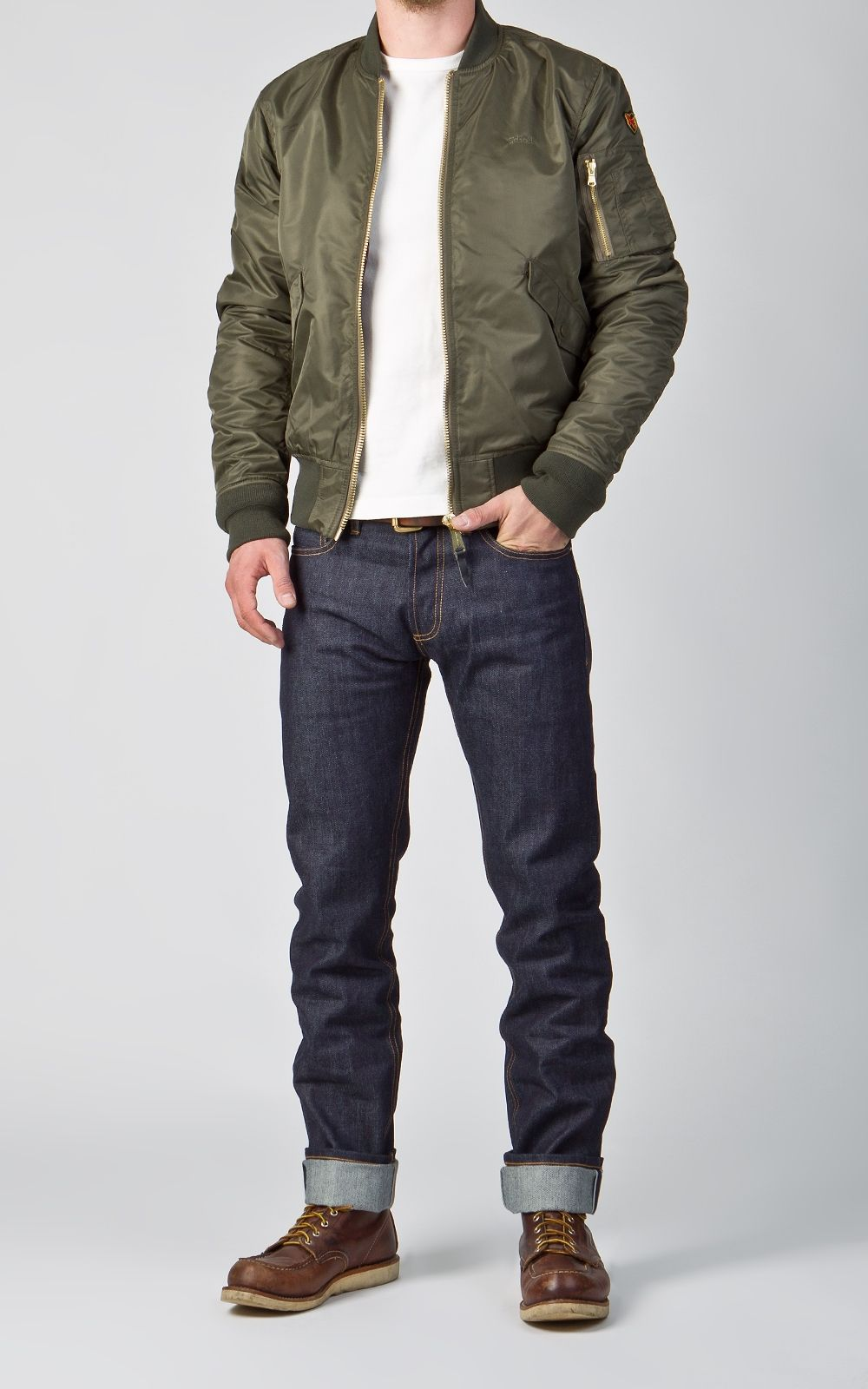 9d1760a88 Schott N.Y.C. Bomber Jacket AC Army | Apparel | Bomber jacket outfit ...