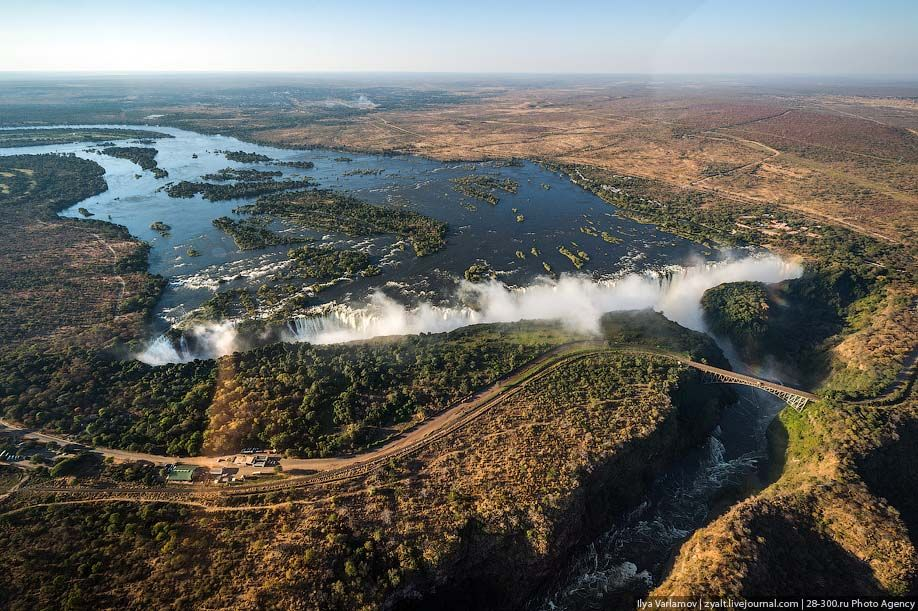 zyalt: Victoria Waterfall Heli View