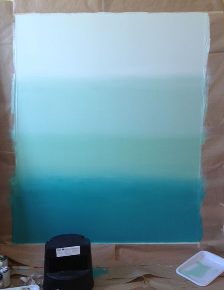 Colorhouse paint ombre wall diy for wall between kitchen and art table