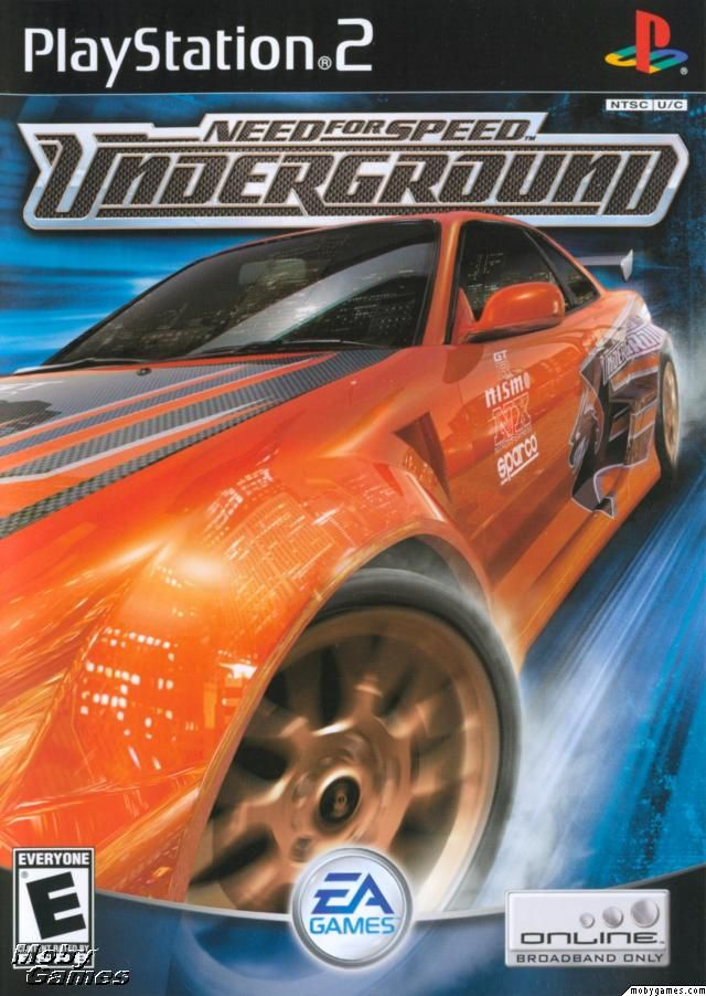 Need For Speed Underground Playstation 2 Front Cover With Images