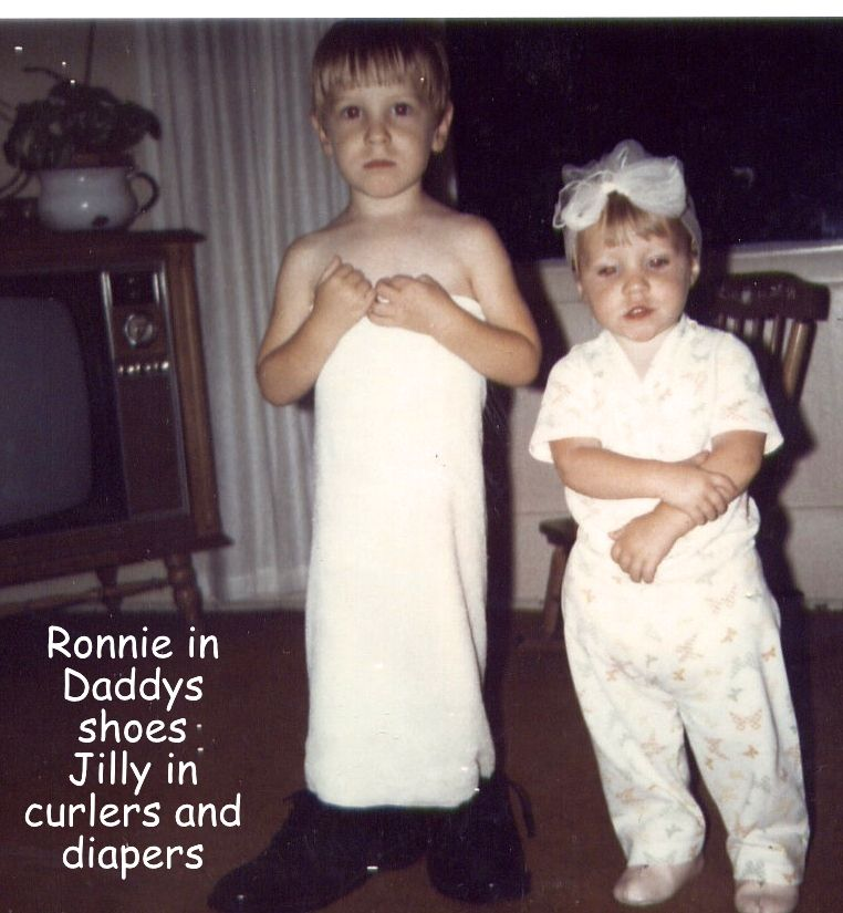 my favorite pic...MY SON, RONNIE, AND DAUGHTER JILL...1968