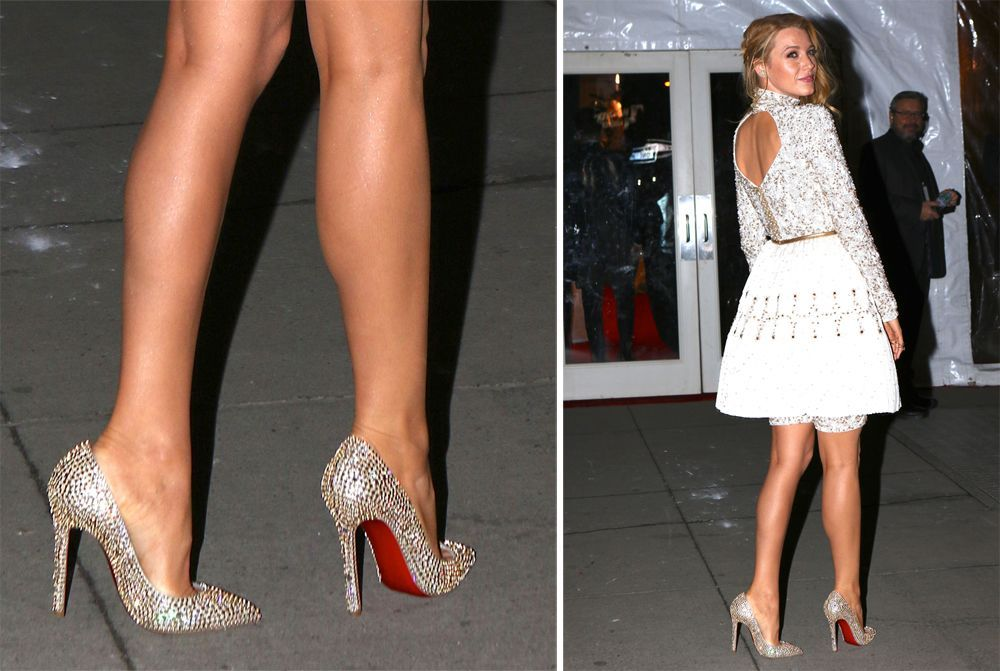 80dc80d00819 No One is as Dedicated to Christian Louboutin Pumps as Blake Lively ...