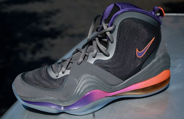 timeless design 48b90 54634 Contrasting shades of grey provide a cool base for hot accents on the Nike  Air Penny 5