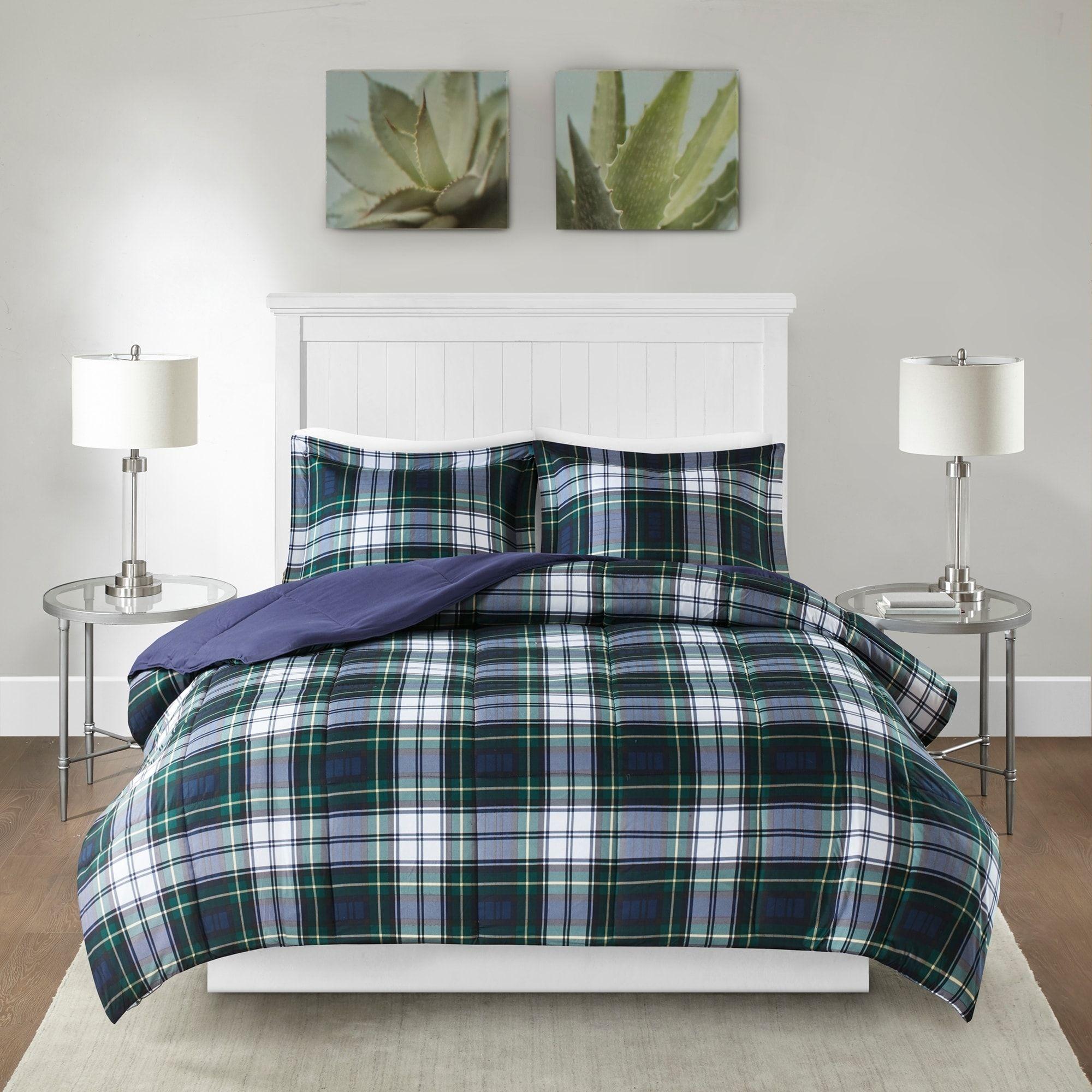 Best Carbon Loft Sterling Navy Green Down Alternative Comforter 400 x 300
