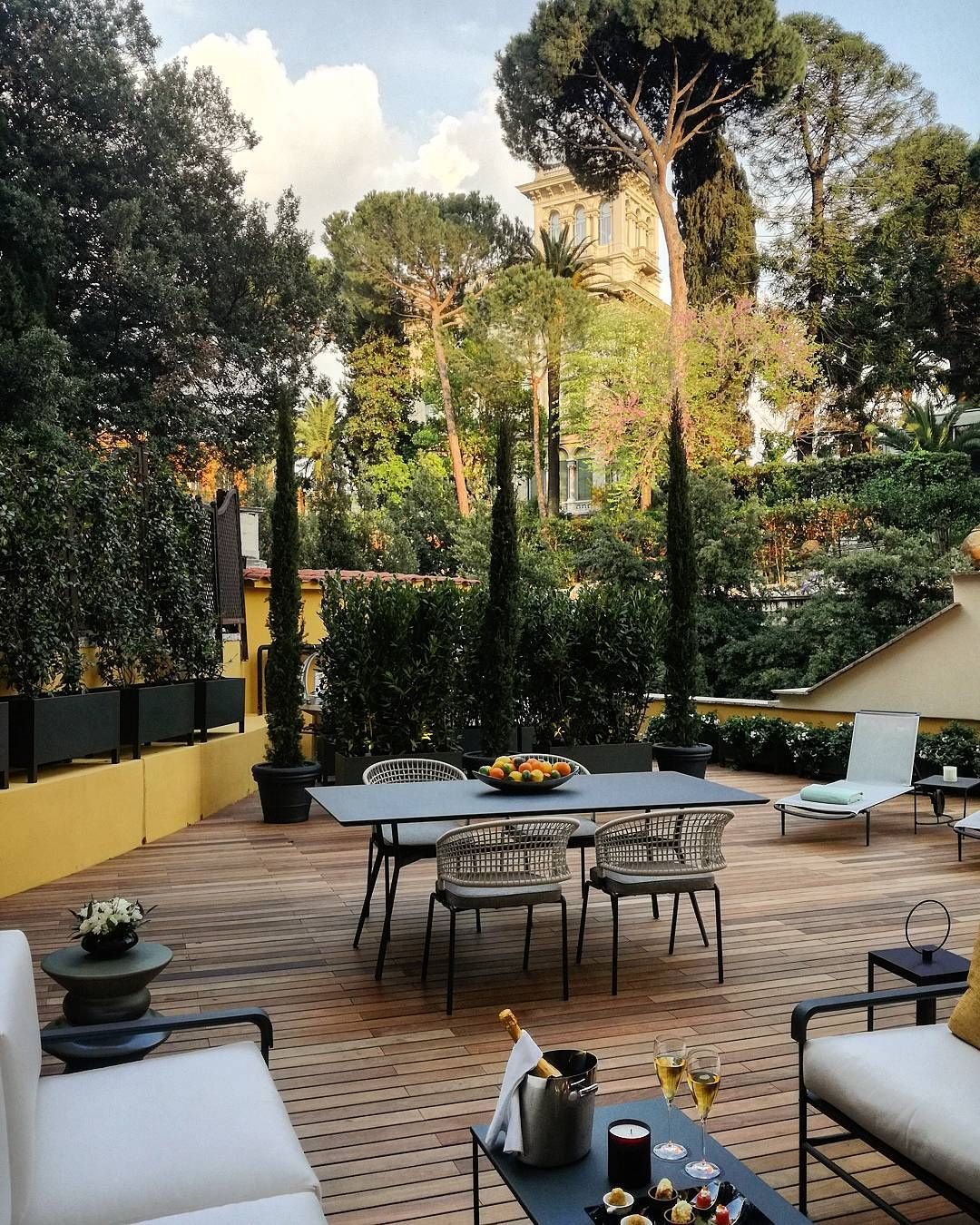 Aperitivo Time In Our Aurora Suite Terrace At Hotel Eden Rome Dcmoments