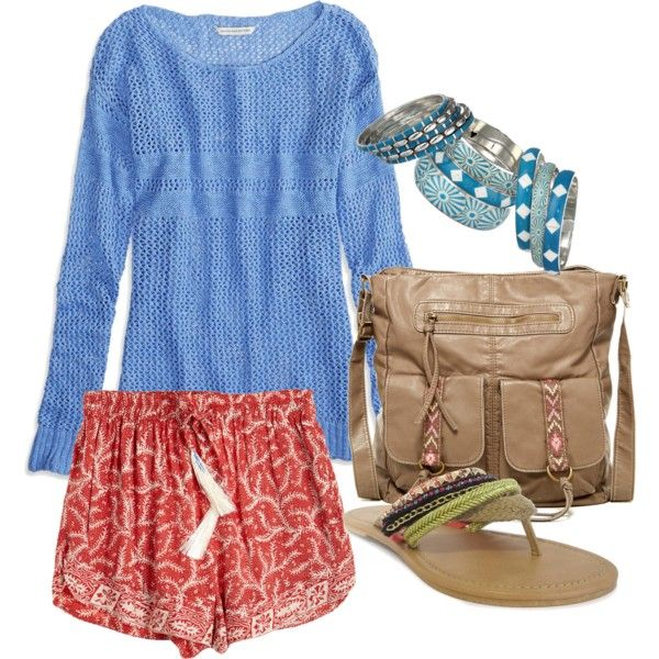 summer 6 by twintnmom-1 on Polyvore featuring polyvore fashion style American Eagle Outfitters Natalie Martin OLIVIA MILLER T-shirt & Jeans Gypsy SOULE