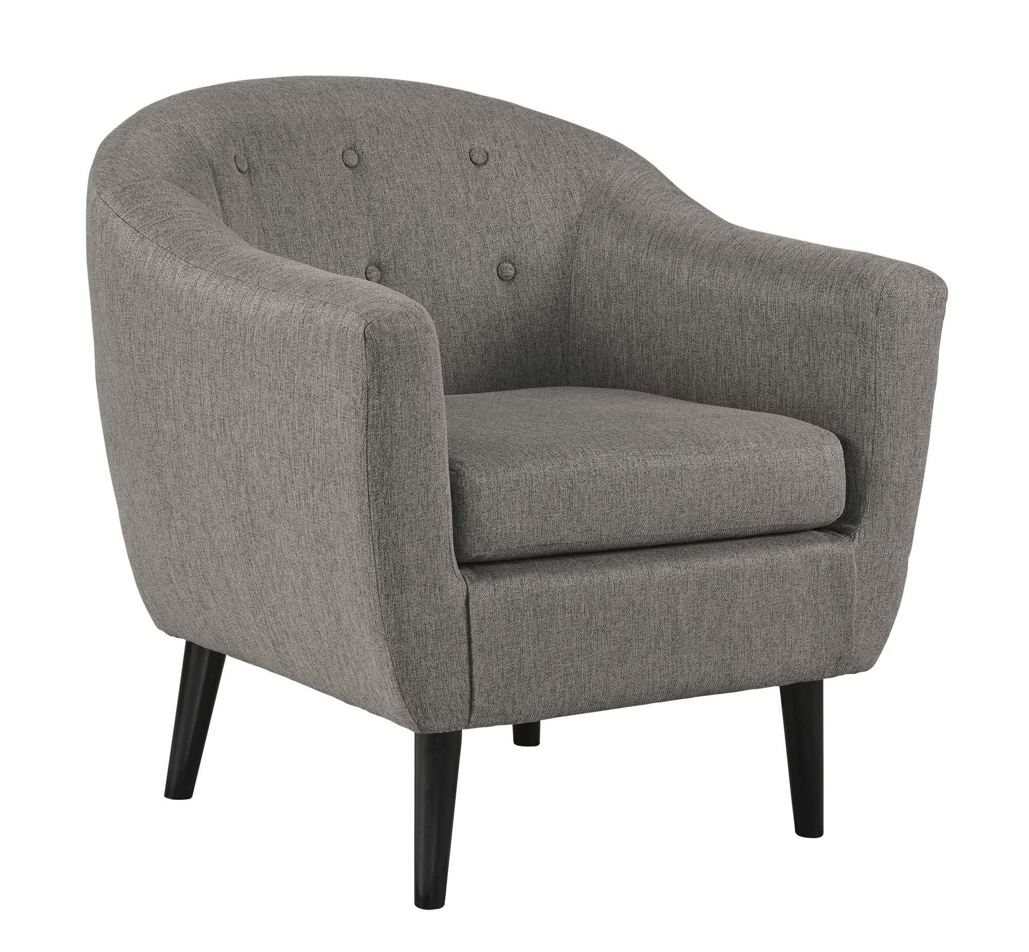 Best Klorey Charcoal Accent Chair Accent Chairs Small Living 400 x 300