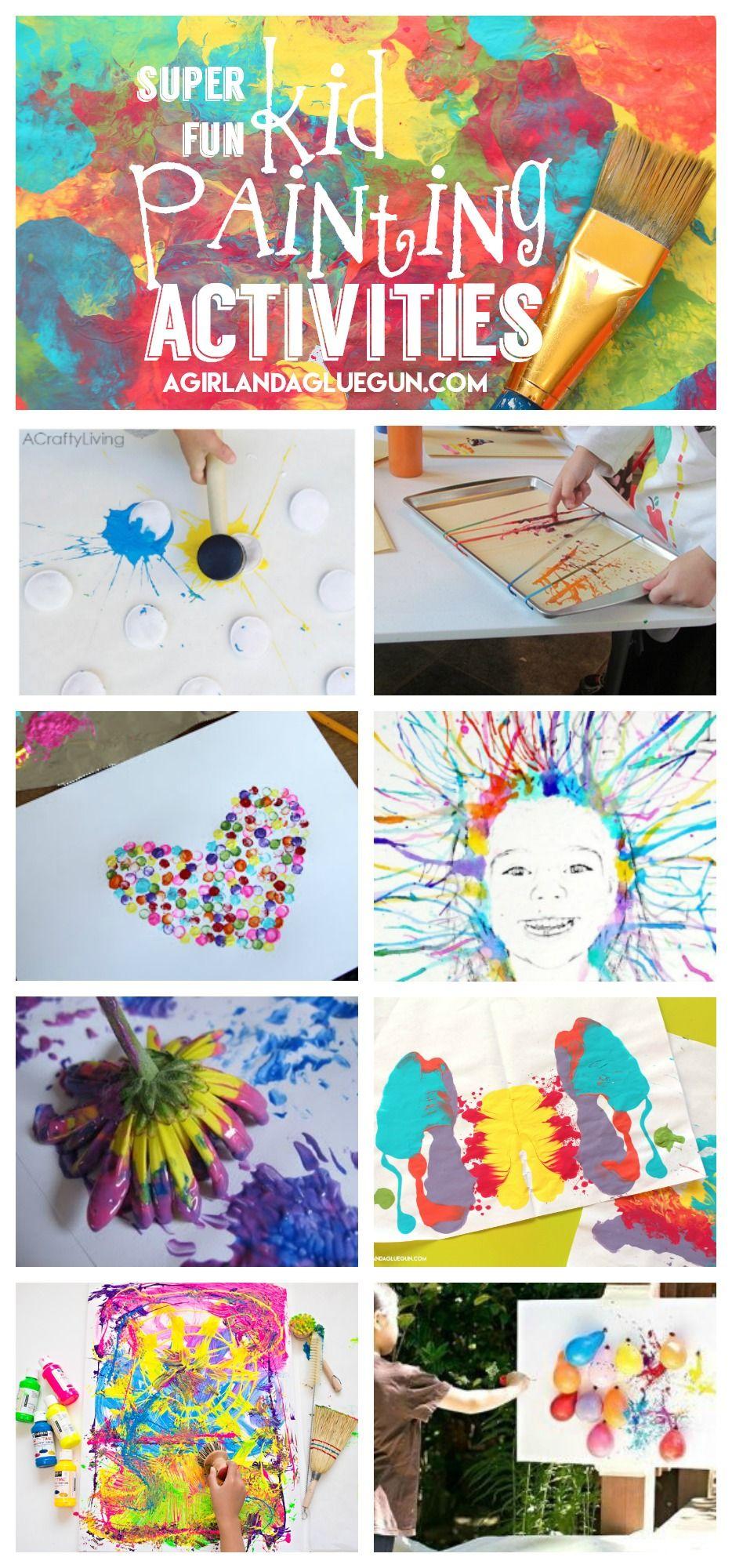 Painting Activities For Kids Kids Babies Activities For Kids