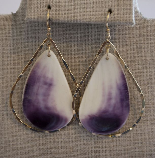 Golden Delicious Quahog Earrings By Lucia Moon Designs