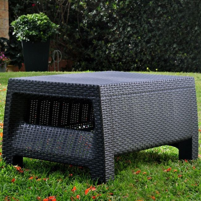 keter corfu charcoal resin all weather outdoor coffee table rh pinterest cl