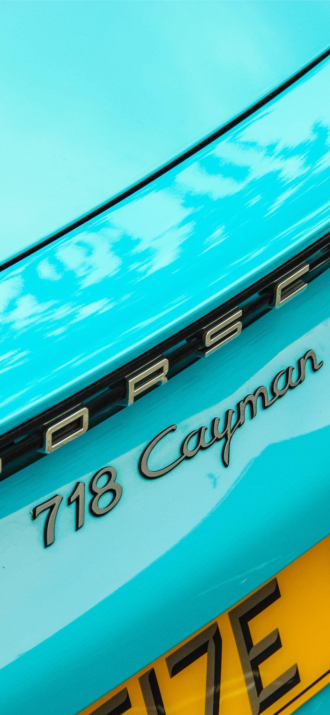 teal Porsche Cayman 718 S iPhone X Wallpapers in 2020