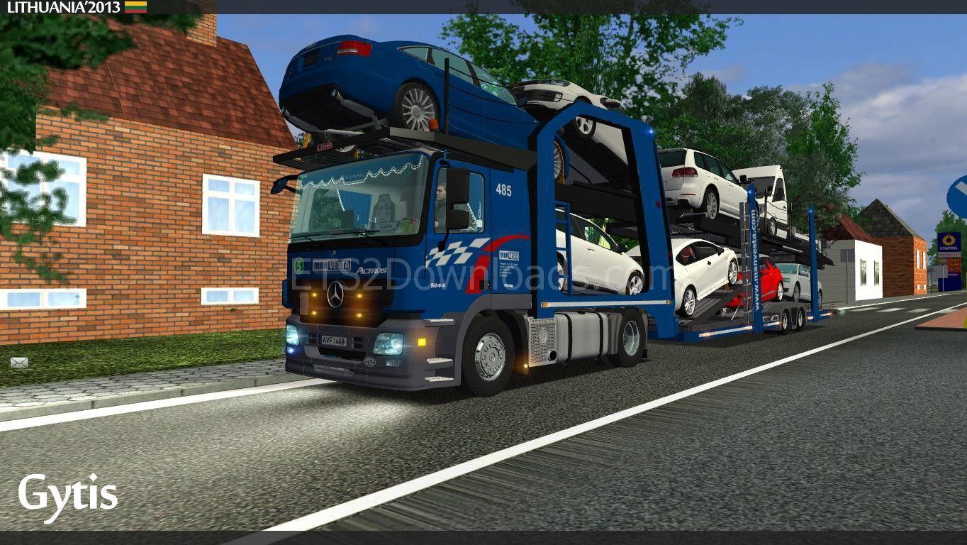 Mercedes-Benz Actros 1841: MANVESTA Car Transporter   Euro