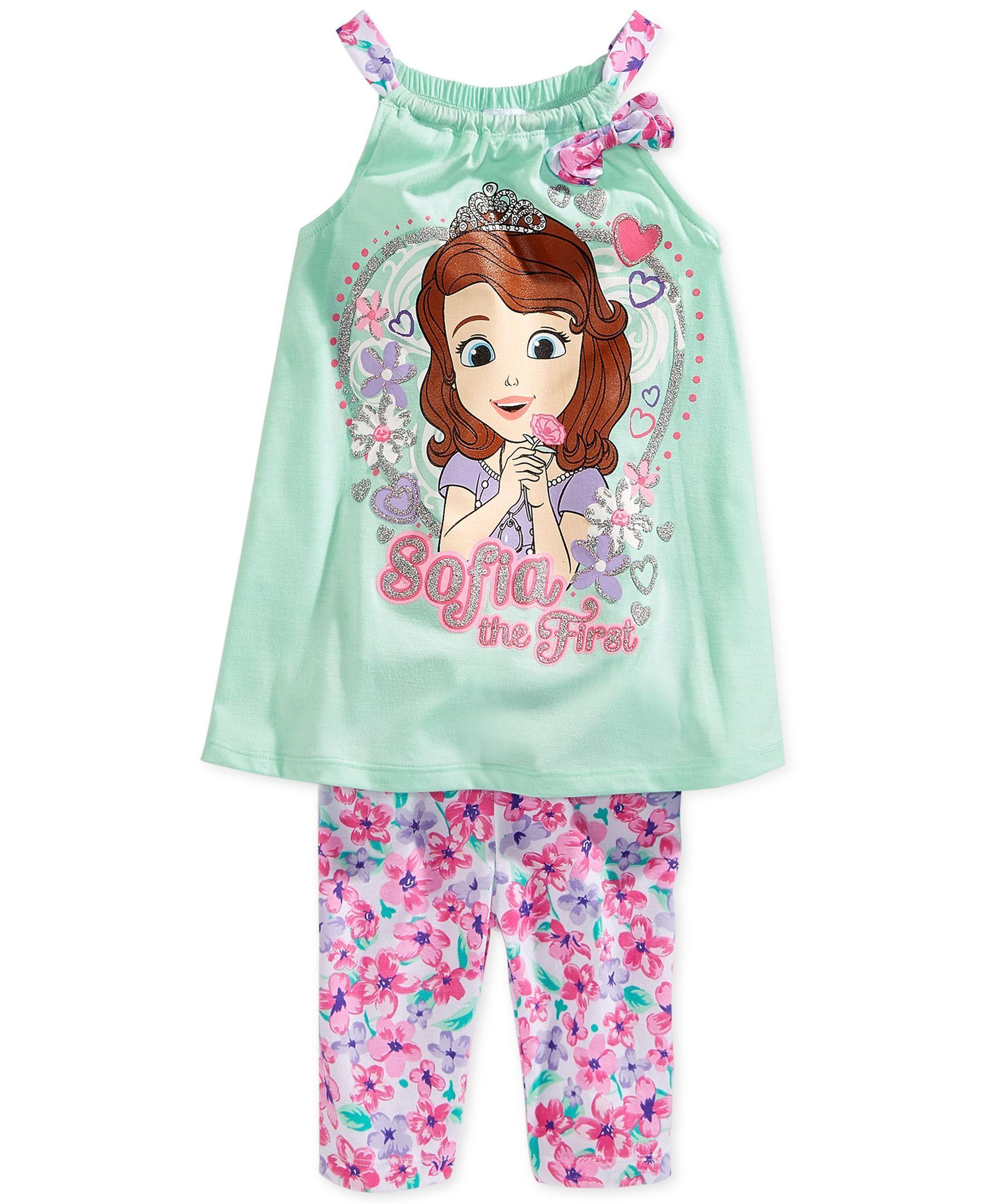 Girls Disney Princess Sophia the first short pyjamas summer pjs