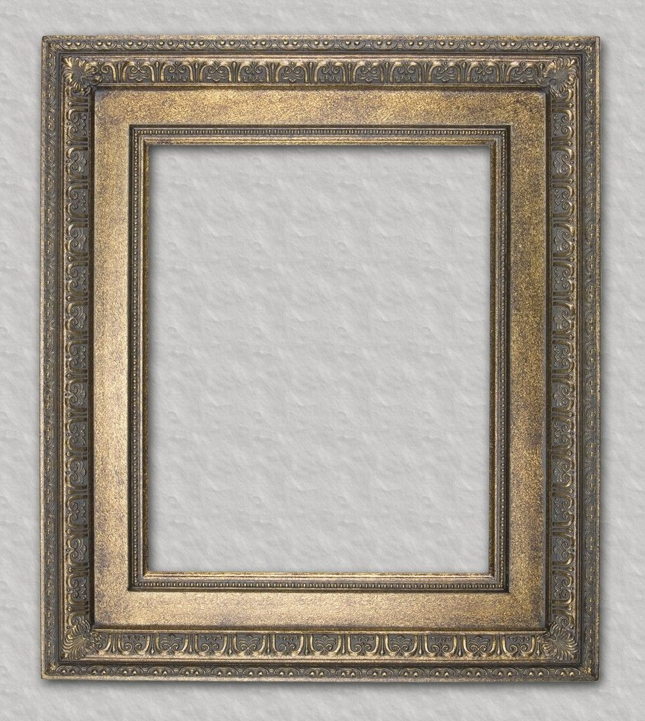 Bronze gold with beaded lip readymade frame ready for