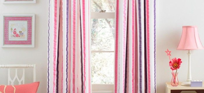 Pink Multicolor Curtains For Living Room