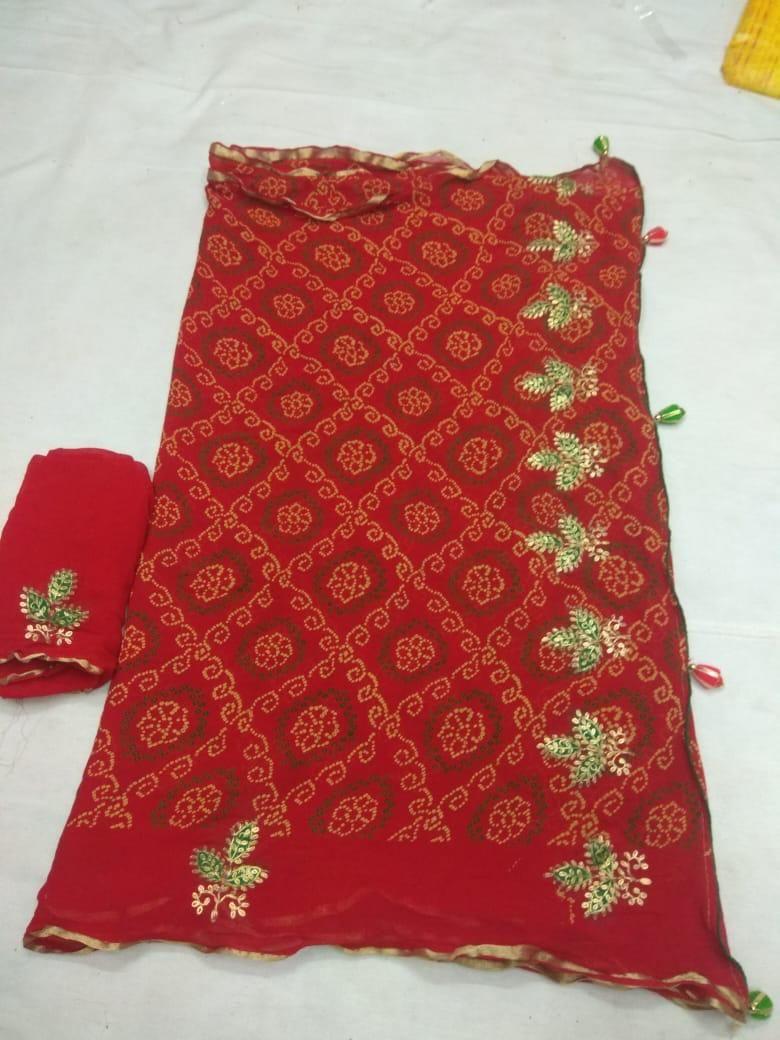 Gotapetti Border Dresses Wedding Saree for Women Mothda Leheriya Saree Traditional Indian Designer saree With Unstitched Blouse Piece