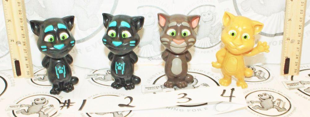 Details About No Sound 4 Lot Cat Talking Tom Mcdonald Toy 3 5