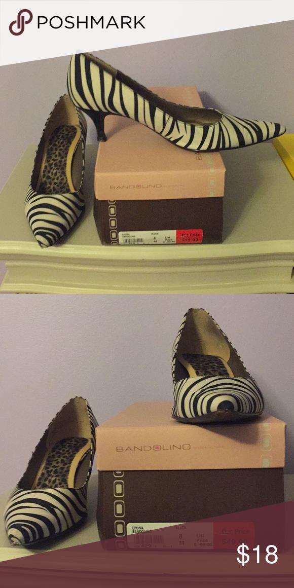 Bandolino size 8 leopard kitten heels Bandolino size 8