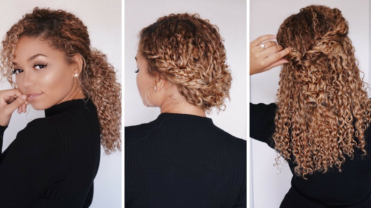 3 Super Easy Hairstyles For 3b 3c Curly Hair Bella Kurls Extensions Curly Hair Styles Easy 3c Curly Hair Curly Hair Styles
