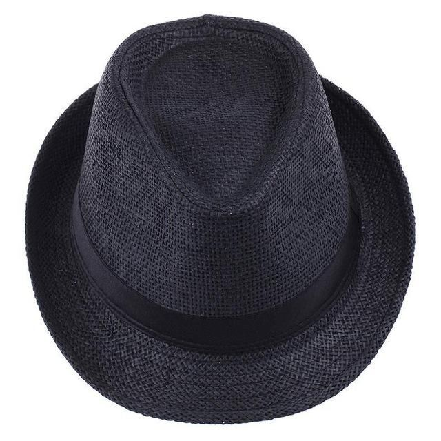 27d3e58f LNPBD Hot Unisex Women Men Fashion Summer Casual Trendy Beach Sun Straw  Panama Jazz Hat Cowboy Fedora hat Gangster Cap
