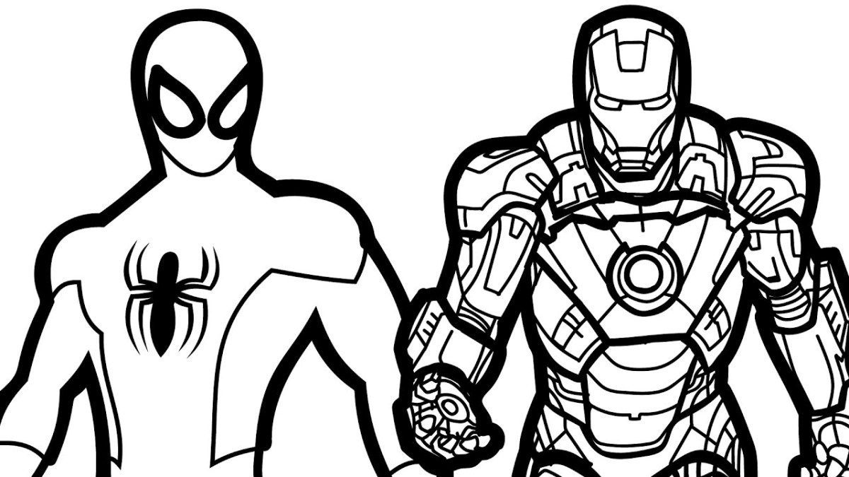 Top Iron Man And Spiderman Coloring Pages Superhero Coloring Pages Superhero Coloring Spiderman Coloring