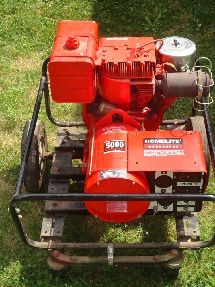 Homelite 5000 Watt Home Gas power Generator Model 178A50