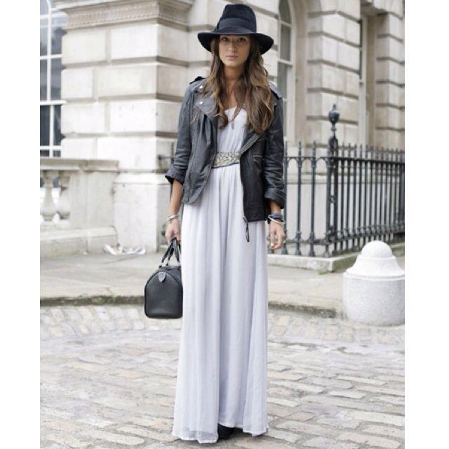 Vestido longo + jaueta